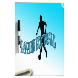 Playing Football Dry Erase White Board