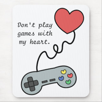 Playing games with one's heart mousepads