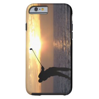 Playing Golf At Sunset Tough iPhone 6 Case