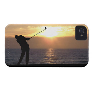Playing Golf At Sunset Case-Mate iPhone 4 Cases