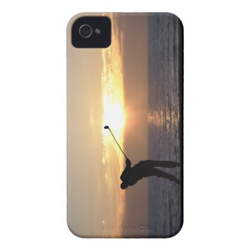 Playing Golf At Sunset iPhone 4 Cases