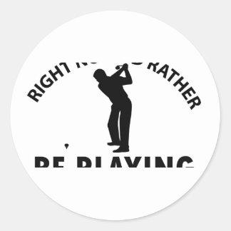 Playing  golf round sticker