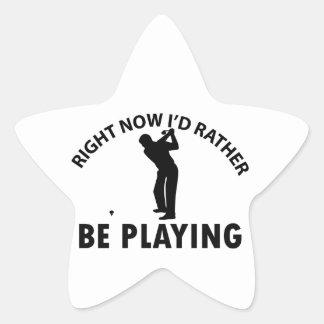 Playing golf star sticker