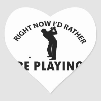 Playing  golf stickers