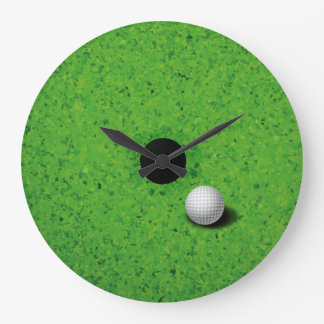 Playing Golf Wall Clock