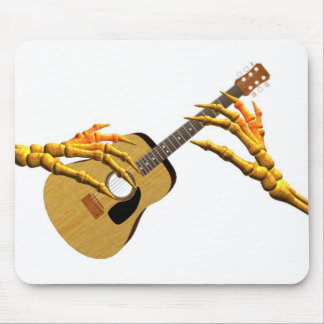 Playing guitar down to the bone by Valxart Mouse Pad