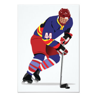 Playing Ice Hockey Invitations