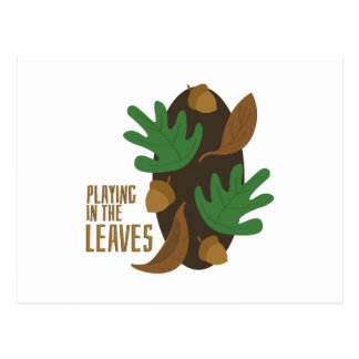 Playing In Leaves Postcard