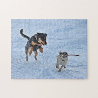 Playing in the Snow Jigsaw Puzzle