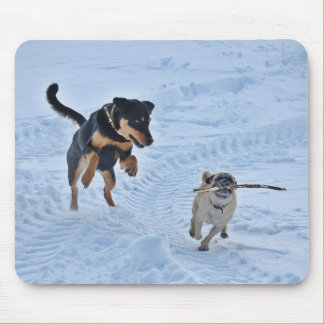 Playing in the Snow Mouse Mat
