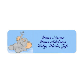 Playing in the Water Return Address Label