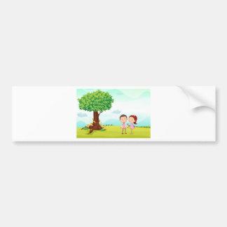playing kids bumper sticker
