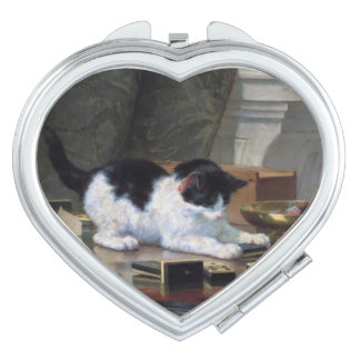 Playing Kitten by Henriëtte Ronner-Knip Mirror For Makeup