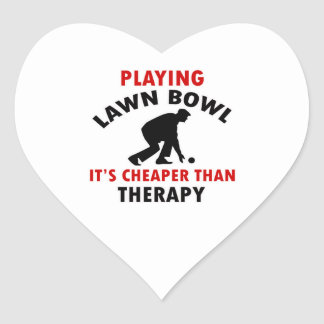 playing Lawn Bowl design Heart Sticker