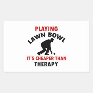 playing Lawn Bowl design Rectangular Sticker