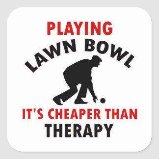 playing Lawn Bowl design Square Sticker