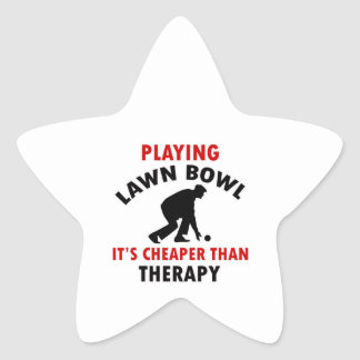 playing Lawn Bowl design Star Sticker