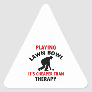 playing Lawn Bowl design Triangle Sticker