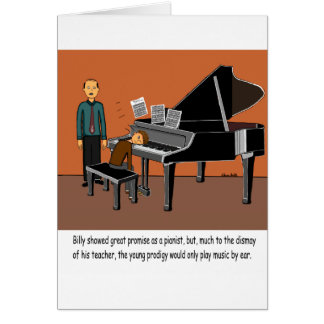Playing Music By Ear Greeting Card