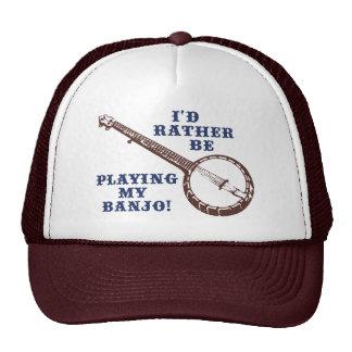 Playing My Banjo Mesh Hats