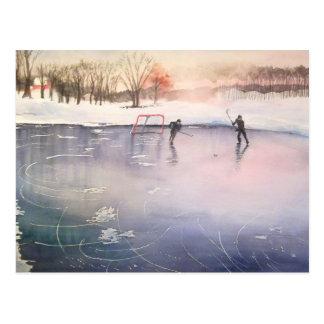 Playing on Ice Postcard