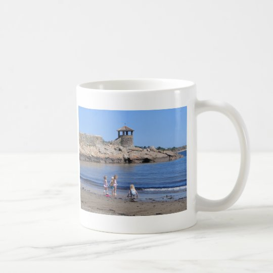Playing On the Beach in Rockport, MA Coffee Mug