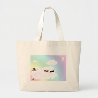 Playing Over The Rainbow Bridge Canvas Bags