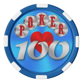 Playing poker chip 100