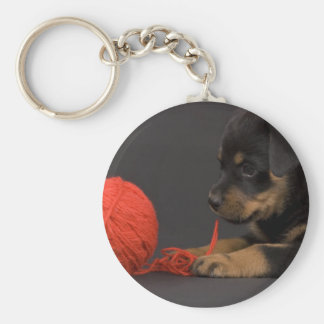 Playing Puppy 6 Key Ring