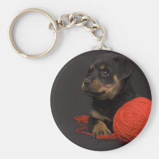 Playing Puppy 7 Key Ring