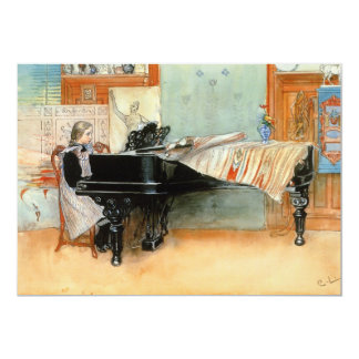 Playing Scales 1898 13 Cm X 18 Cm Invitation Card