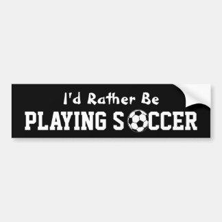 Playing Soccer Bumper Sticker