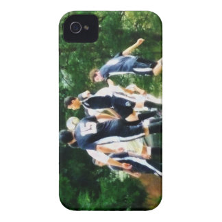 Playing Soccer iPhone 4 Cover
