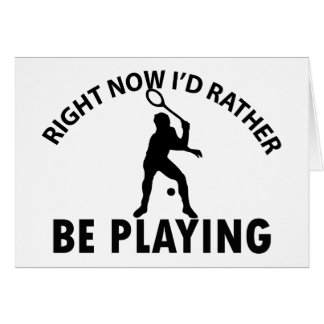 Playing  squash greeting card