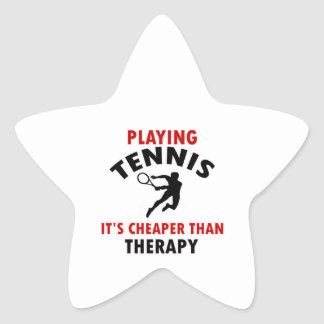playing Tennis is cheaper Star Stickers