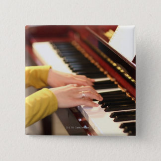 Playing the Piano 15 Cm Square Badge