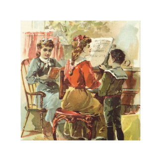 Playing the Piano Canvas Prints