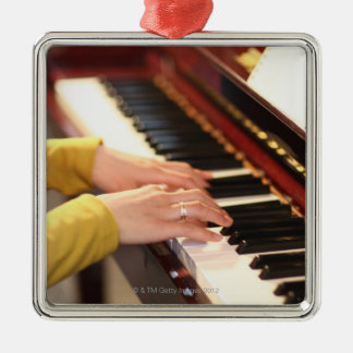 Playing the Piano Christmas Ornament
