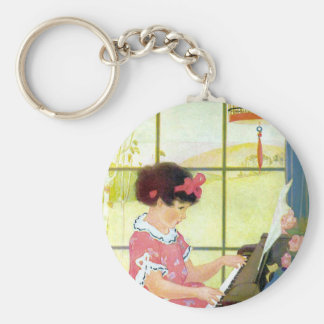 Playing the Piano Key Ring