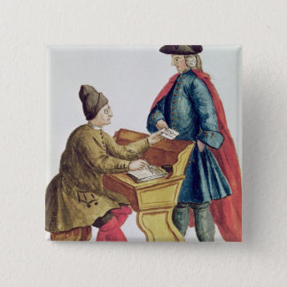 Playing the Venetian Lottery 15 Cm Square Badge