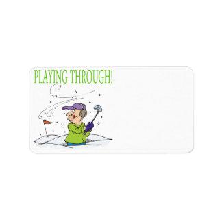Playing Through Label