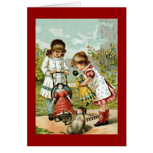 Playing With Dolls Card