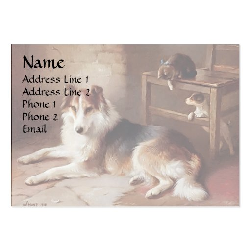 Playmates - Dog Kitten - Puppy Business Card Templates