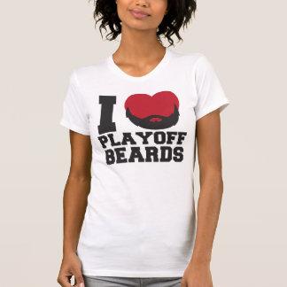 Playoff Beards (red) Tee Shirt