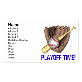 Playoff Time Pack Of Standard Business Cards