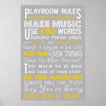 Playroom Rules Poster