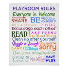 Playroom Rules Poster