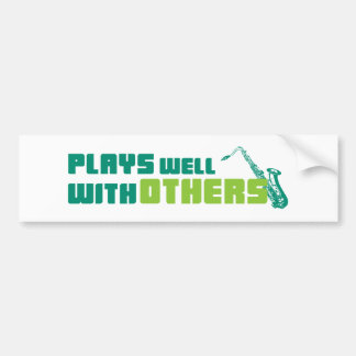 Plays Well With Others Bumper Sticker