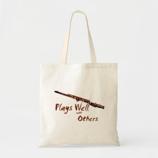 Plays Well with Others / Flute Budget Tote Bag