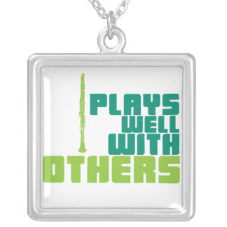 Plays Well With Others Square Pendant Necklace